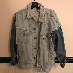 lf two toned denim jacket